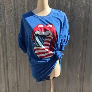 Vintage Rolling Stones American Flag shirt